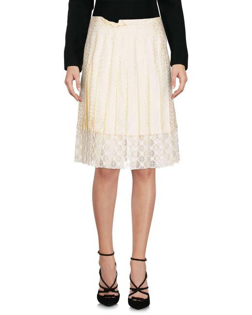 Philosophy Di Lorenzo Serafini - White Knee Length Skirt - Lyst