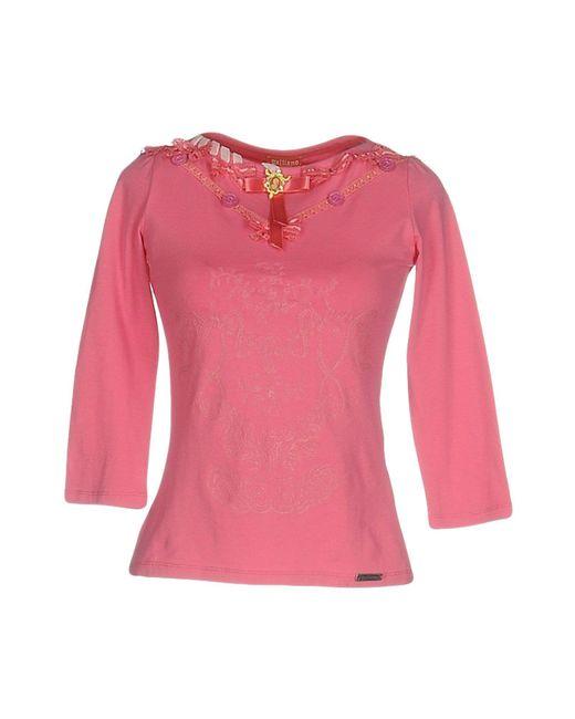 John Galliano - Pink T-shirts - Lyst
