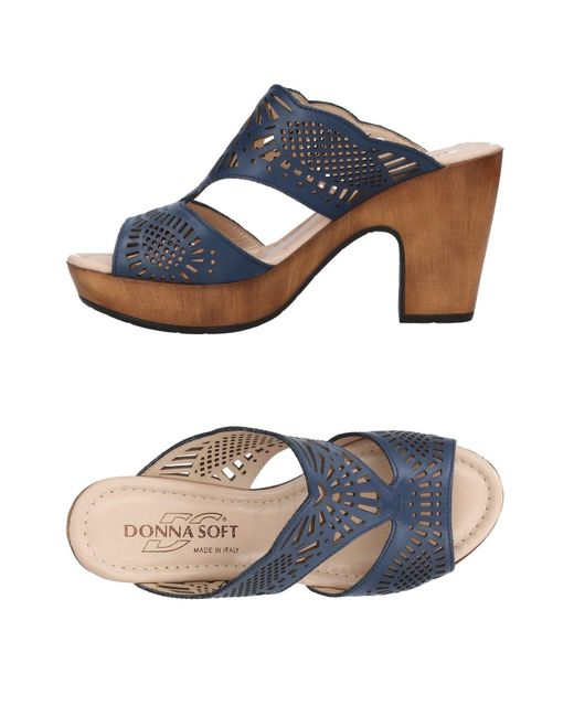 Donna Soft | Blue Sandals | Lyst