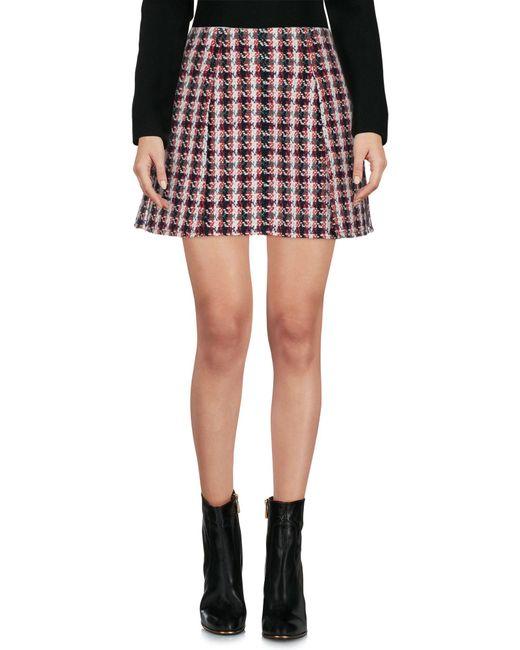Philosophy Di Lorenzo Serafini - Red Mini Skirt - Lyst