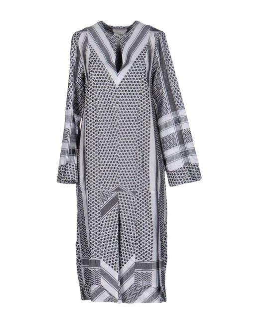 Cecilie Copenhagen - White 3/4 Length Dresses - Lyst