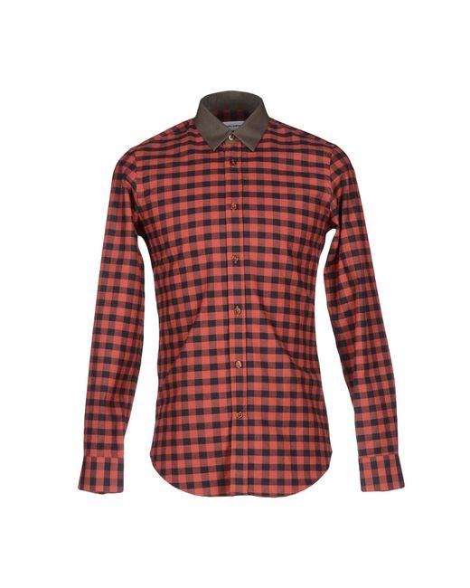 Mauro Grifoni - Red Shirt for Men - Lyst