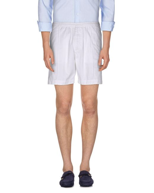 DSquared² - White Bermuda Shorts for Men - Lyst