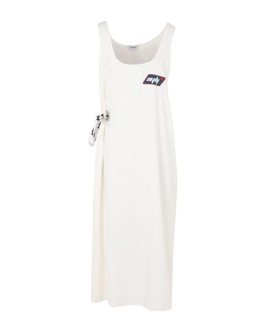 Au Jour Le Jour - White 3/4 Length Dress - Lyst