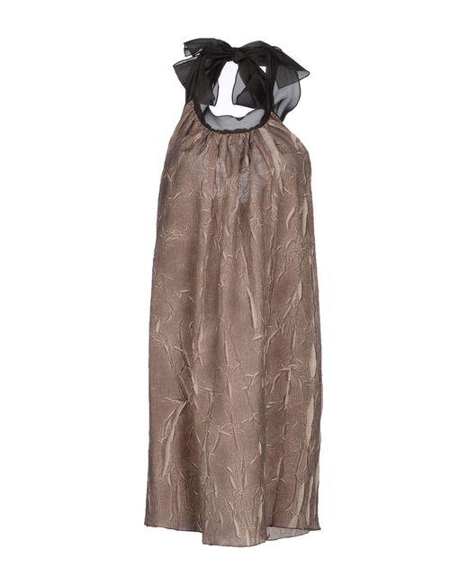 Hache - Natural Short Dress - Lyst