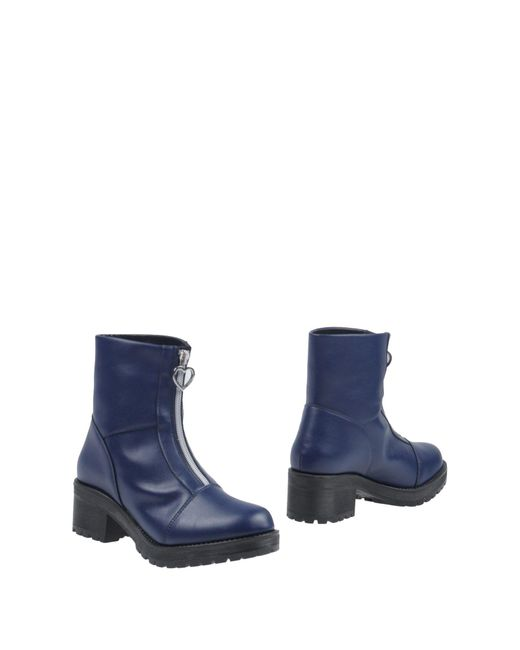Love Moschino - Blue Ankle Boots - Lyst