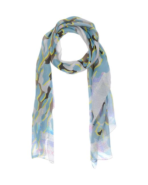 jimmy choo scarves in blue lyst