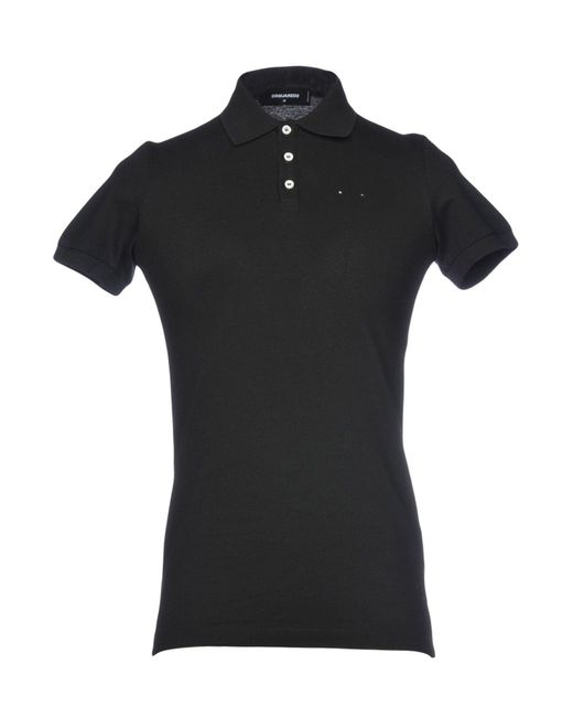 DSquared² - Black Polo Shirt for Men - Lyst