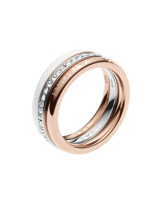 Emporio Armani - Metallic Ring - Lyst