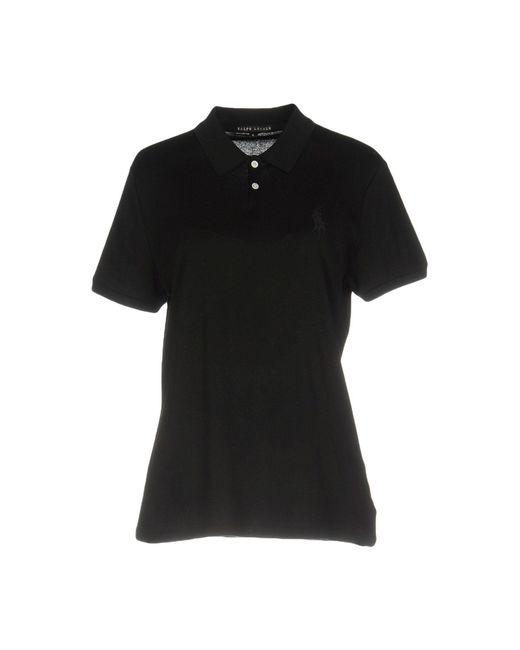 Ralph Lauren Black Label - Black Polo Shirt - Lyst