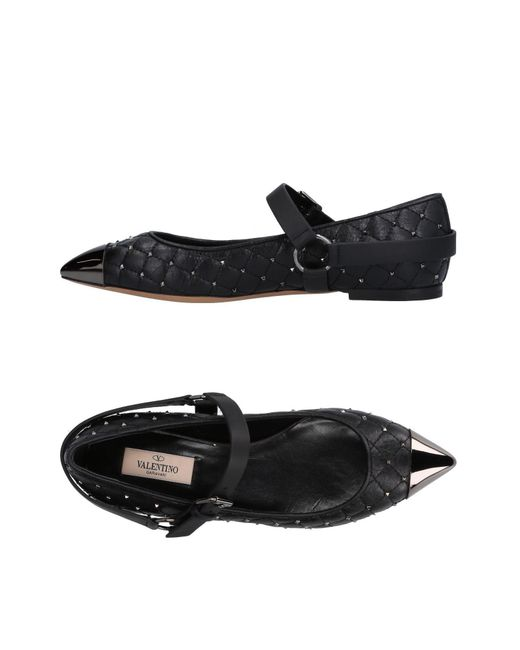 Valentino - Black Ballet Flats - Lyst