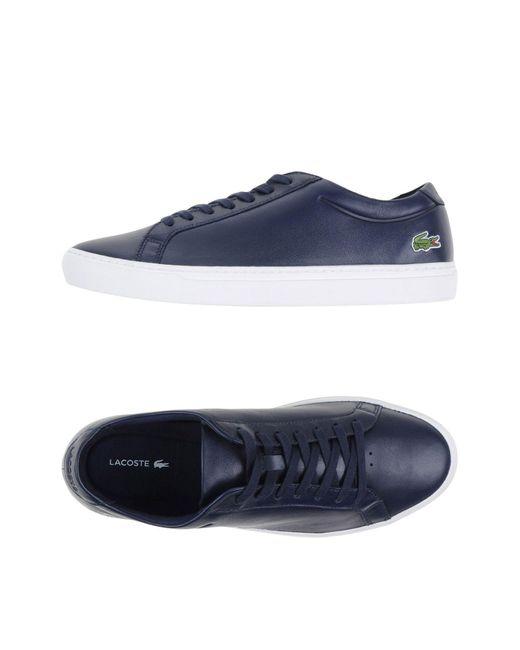Lacoste - Blue Low-tops & Sneakers for Men - Lyst