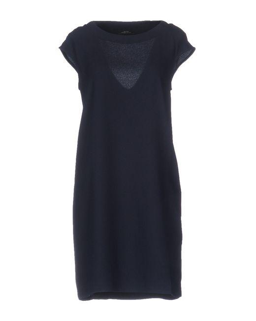 Roberto Collina - Blue Short Dress - Lyst