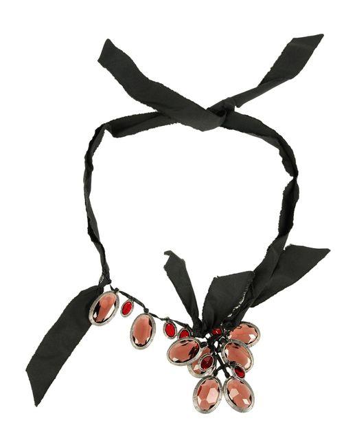 Lanvin | Black Necklace | Lyst
