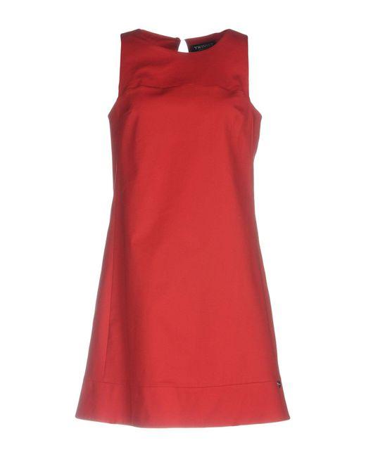 Twin Set - Red Short Dresses - Lyst