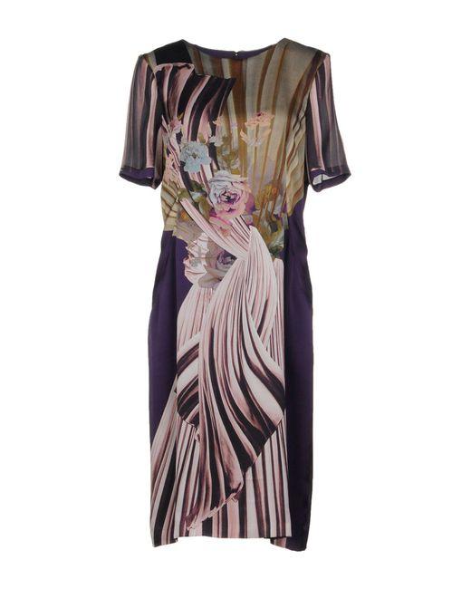 Alberta Ferretti - Purple Knee-length Dress - Lyst