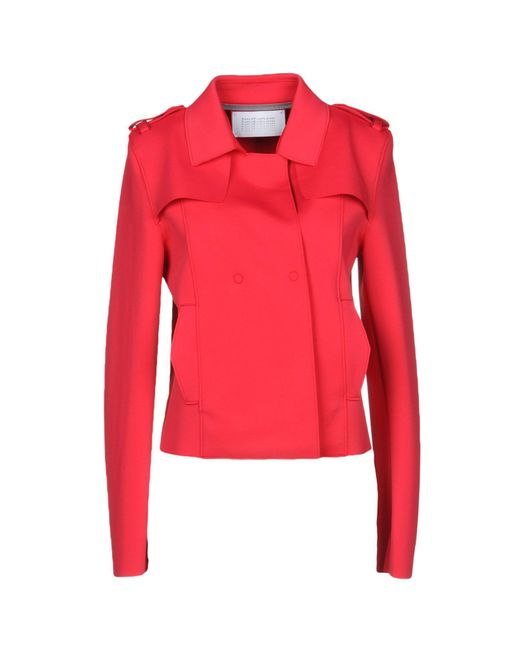 Harris Wharf London - Red Jacket - Lyst