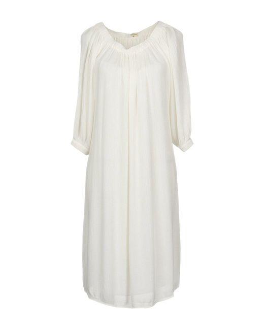 L'Agence - White Short Dress - Lyst