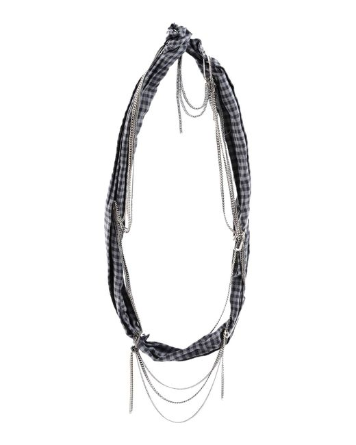Maison Michel - Gray Necklace - Lyst