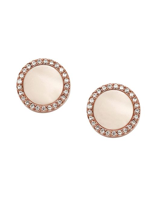 Fossil - Pink Earrings - Lyst