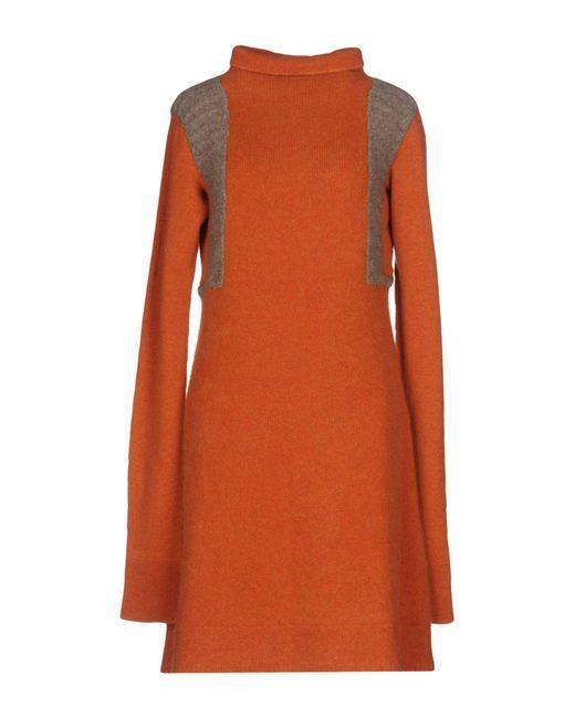 c9afdefc07c Rick Owens - Orange Short Dress - Lyst ...