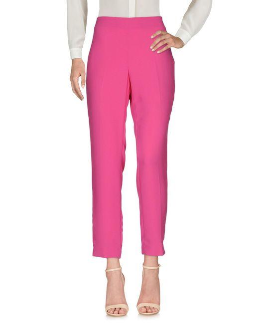 Blue Les Copains   Pink Casual Pants   Lyst