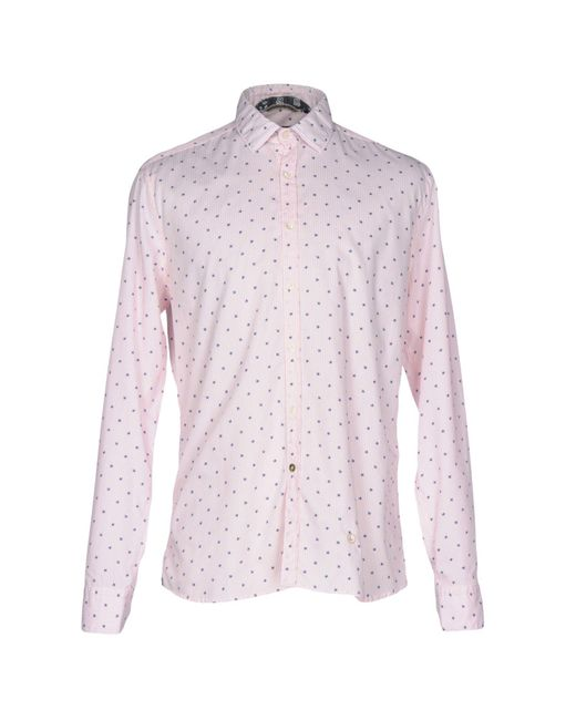 AT.P.CO - Pink Shirt for Men - Lyst