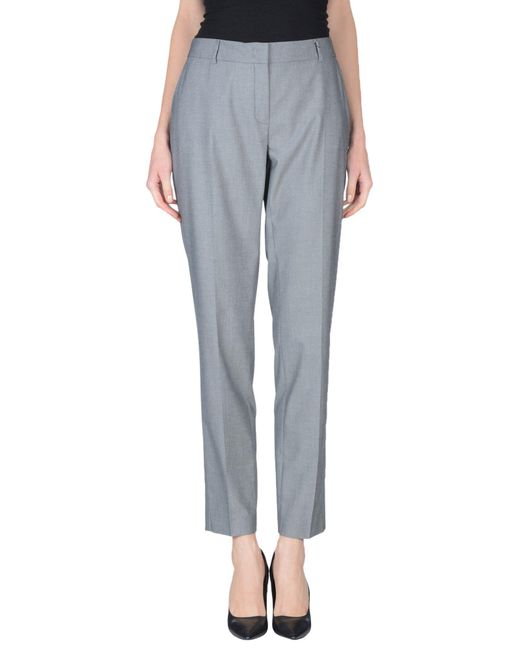 Peserico - Gray Casual Trouser - Lyst