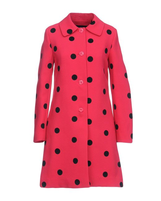 Boutique Moschino - Pink Overcoat - Lyst