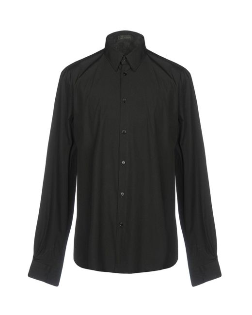 Versace - Black Shirt for Men - Lyst
