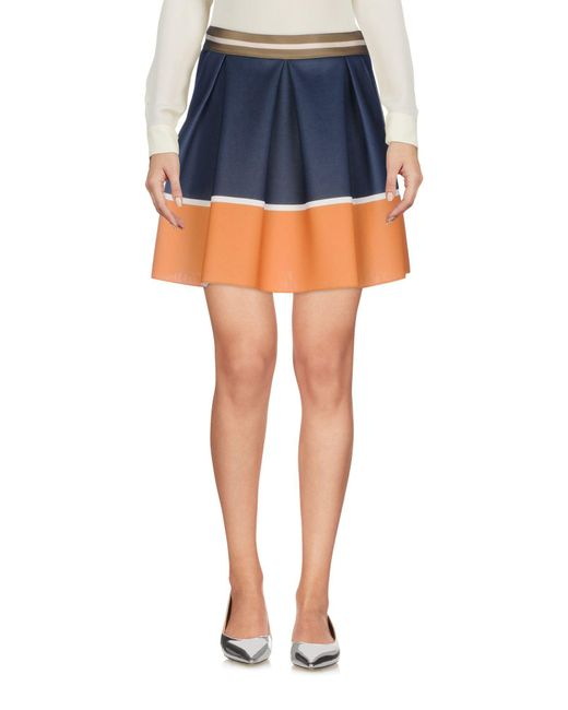 Patrizia Pepe - Blue Mini Skirt - Lyst