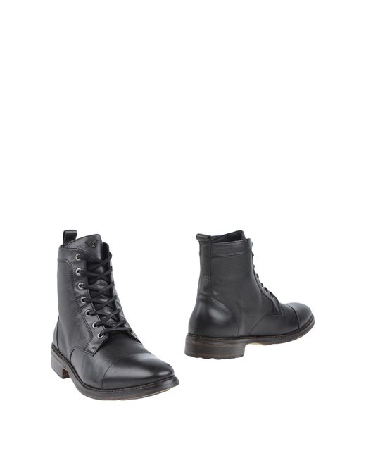 Armani Jeans | Black Ankle Boots for Men | Lyst