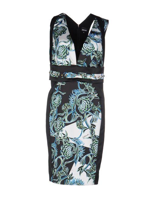 Just Cavalli - Black Printed Chiffon Maxi Dress - Lyst