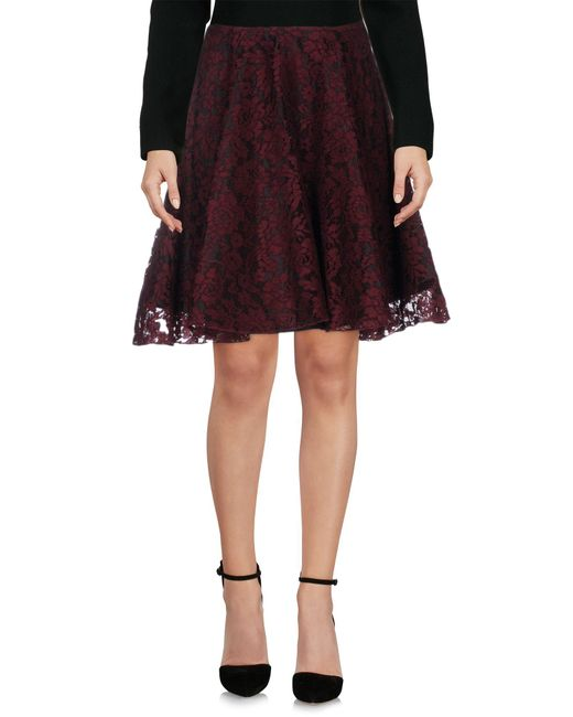 Ainea - Red Knee Length Skirts - Lyst