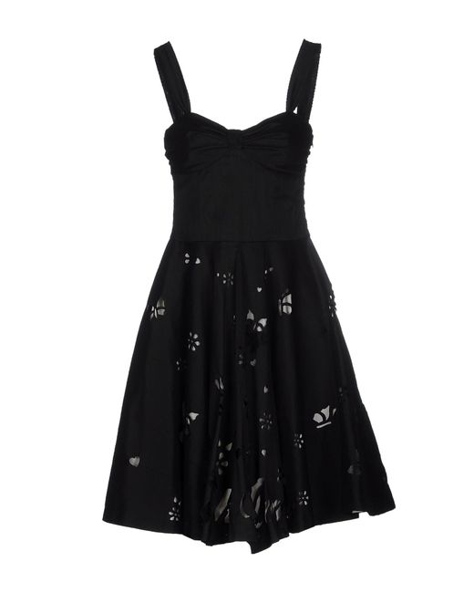 Frankie Morello | Black Knee-length Dress | Lyst