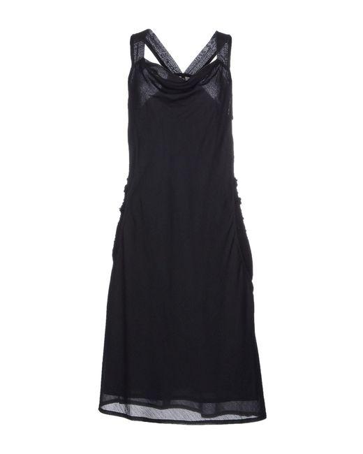 Manila Grace - Black Knee-length Dress - Lyst
