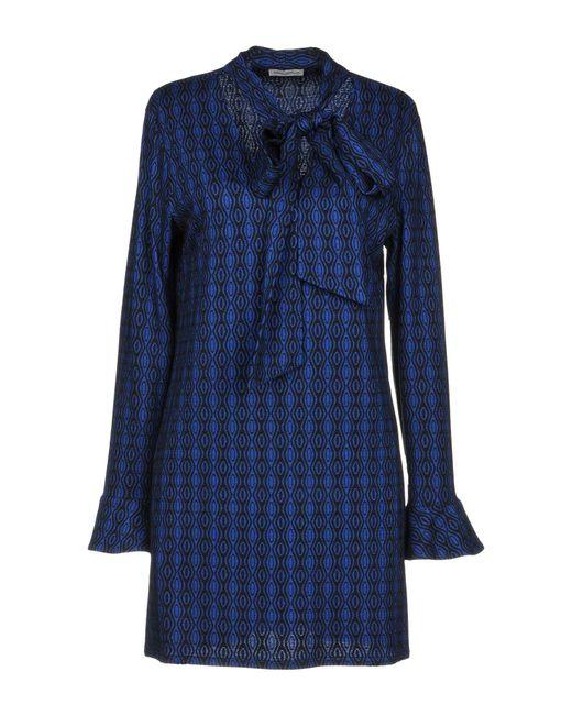 Camicettasnob - Blue Short Dress - Lyst