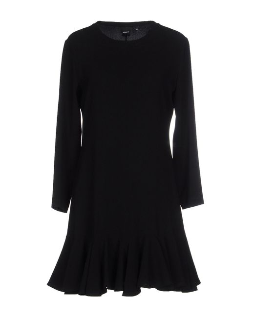 Aspesi - Black Short Dress - Lyst
