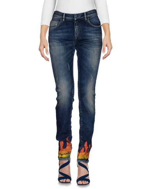 Faith Connexion - Blue Denim Trousers - Lyst