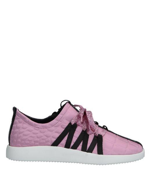 Giuseppe Zanotti - Pink Low-tops & Sneakers - Lyst