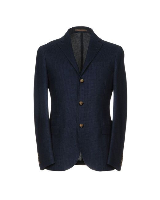 Eleventy - Blue Blazer for Men - Lyst
