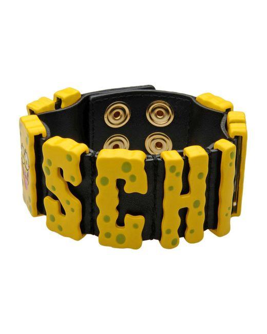 Moschino - Yellow Bracelet - Lyst