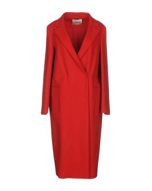 Lanvin | Red Coat | Lyst