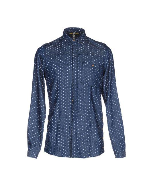 Berna - Blue Denim Shirt for Men - Lyst