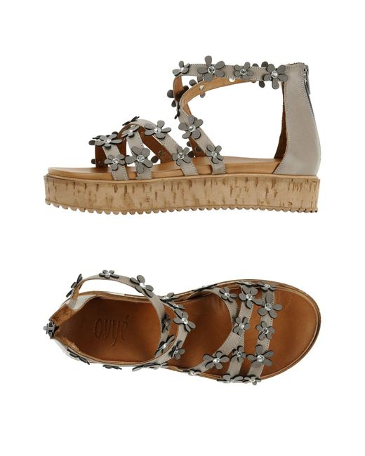 Ovye' By Cristina Lucchi - Gray Sandals - Lyst