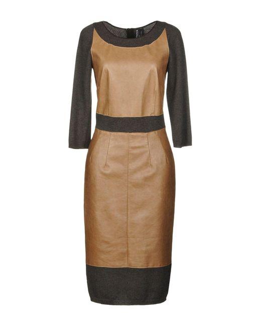 Fontana Couture - Natural Knee-length Dress - Lyst