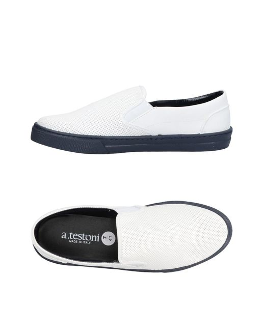 A.Testoni - White Low-tops & Sneakers for Men - Lyst