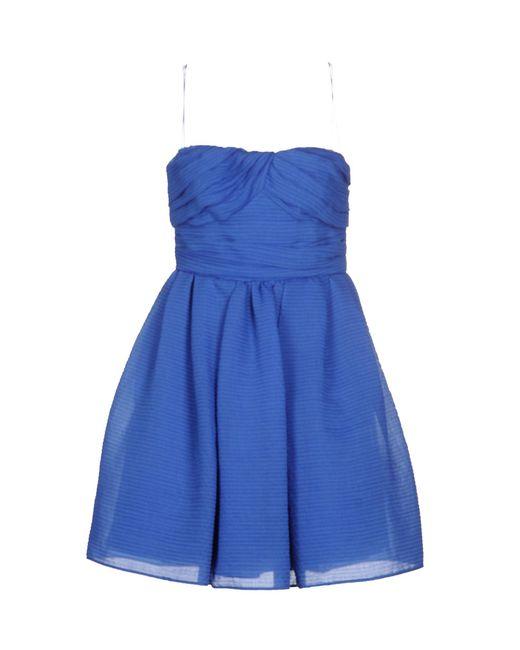 Carven - Blue Short Dress - Lyst