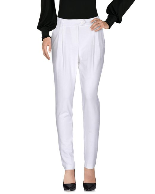Love Moschino - White Casual Trouser - Lyst
