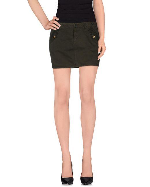 Liu Jo - Green Mini Skirt - Lyst
